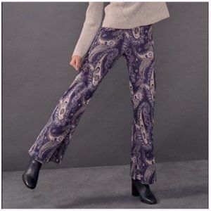 Anthropologie Maeve Paisley Blue Pull on Pants